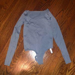 Skims Long Sleeve Bodysuit in Artic